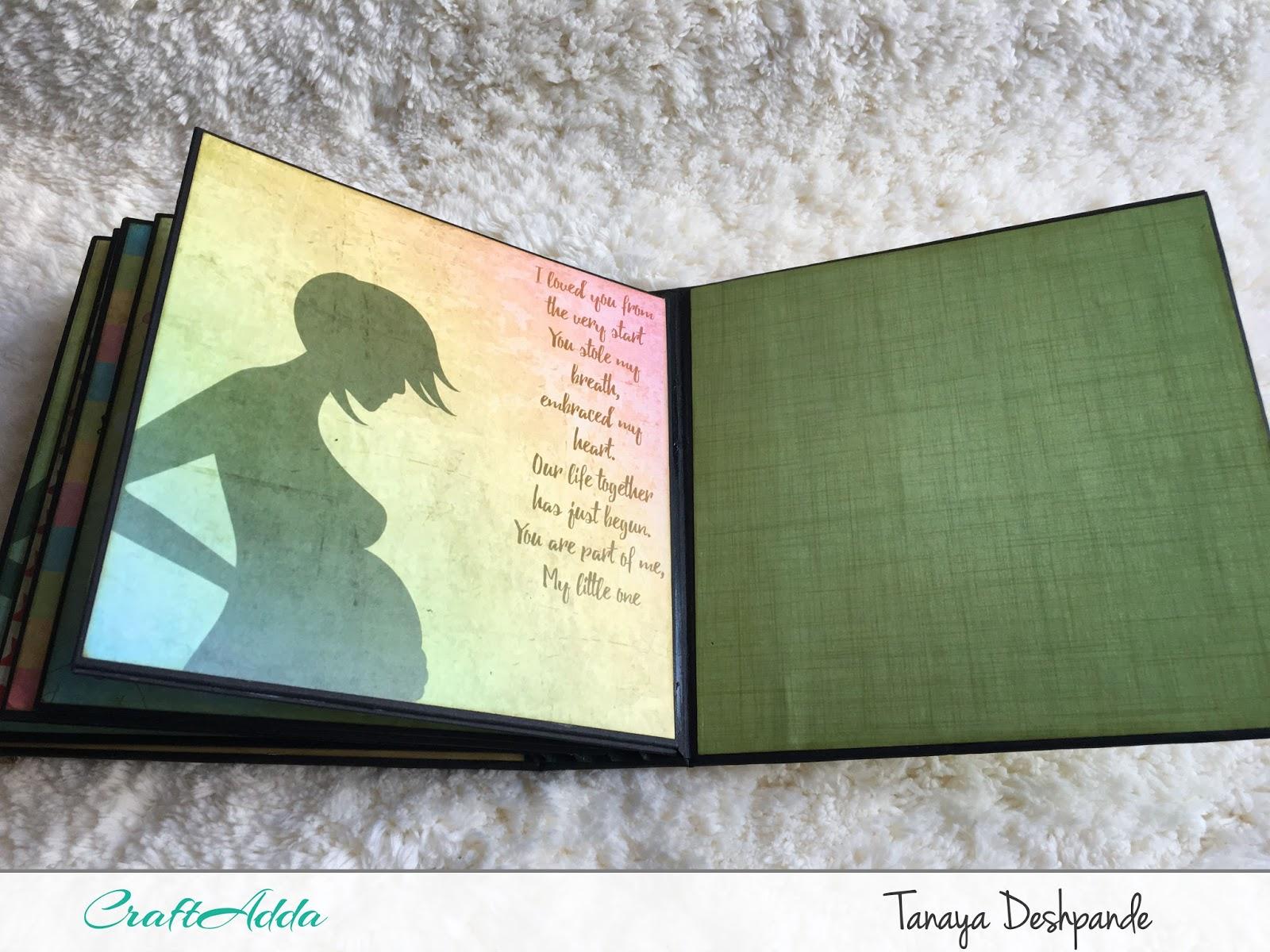 'We are pregnant' Album | Paper pack-CrafTangles | Craftowlz 11
