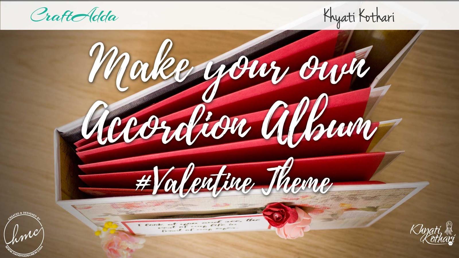 Valentine themed accordion album 1