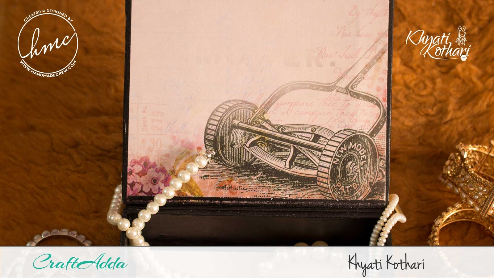 DIY Jewellery box using chipboards and decoupage papers 5