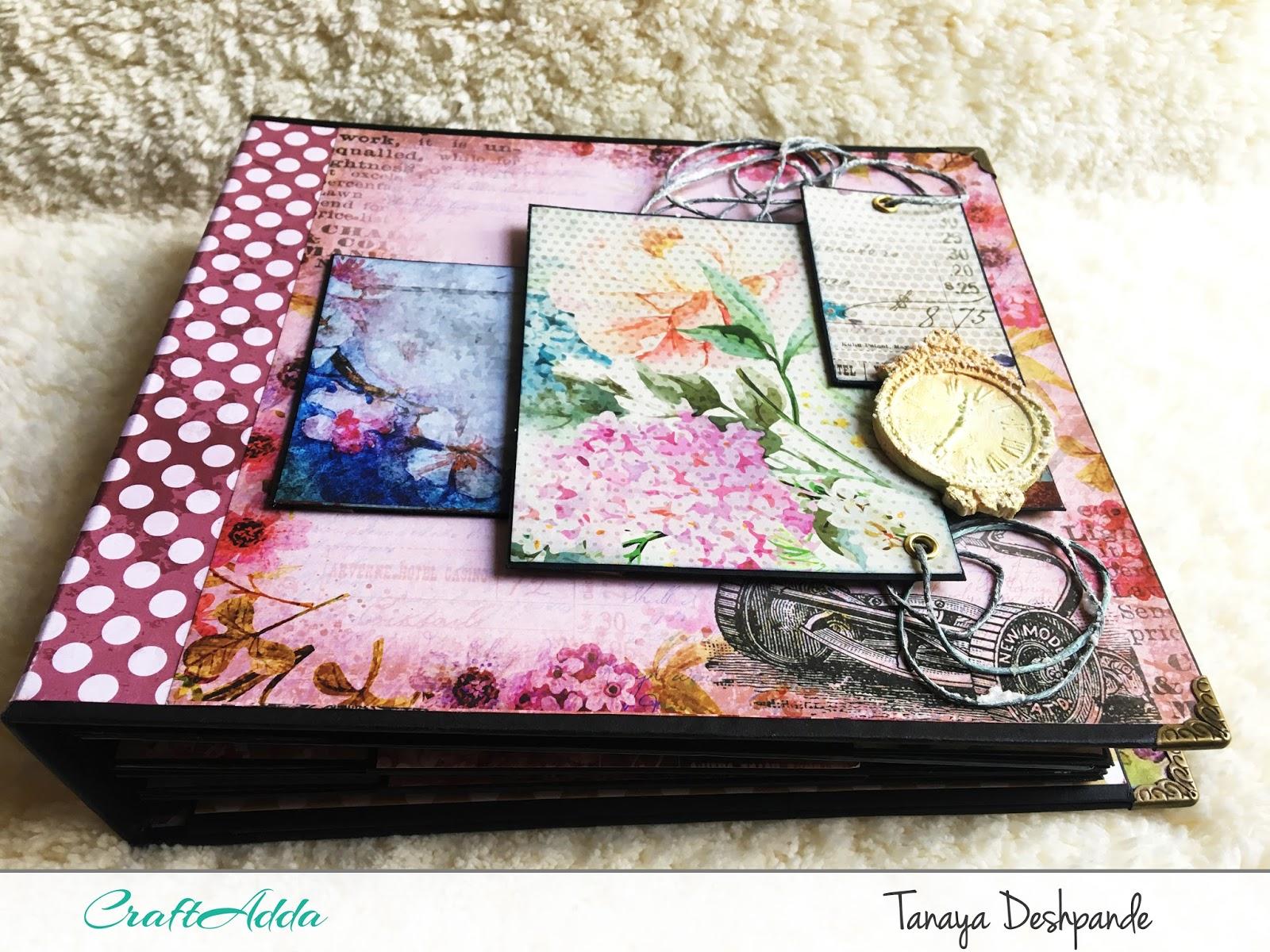 'Floral Elegance' 8*8 mini album by Craftowlz 1