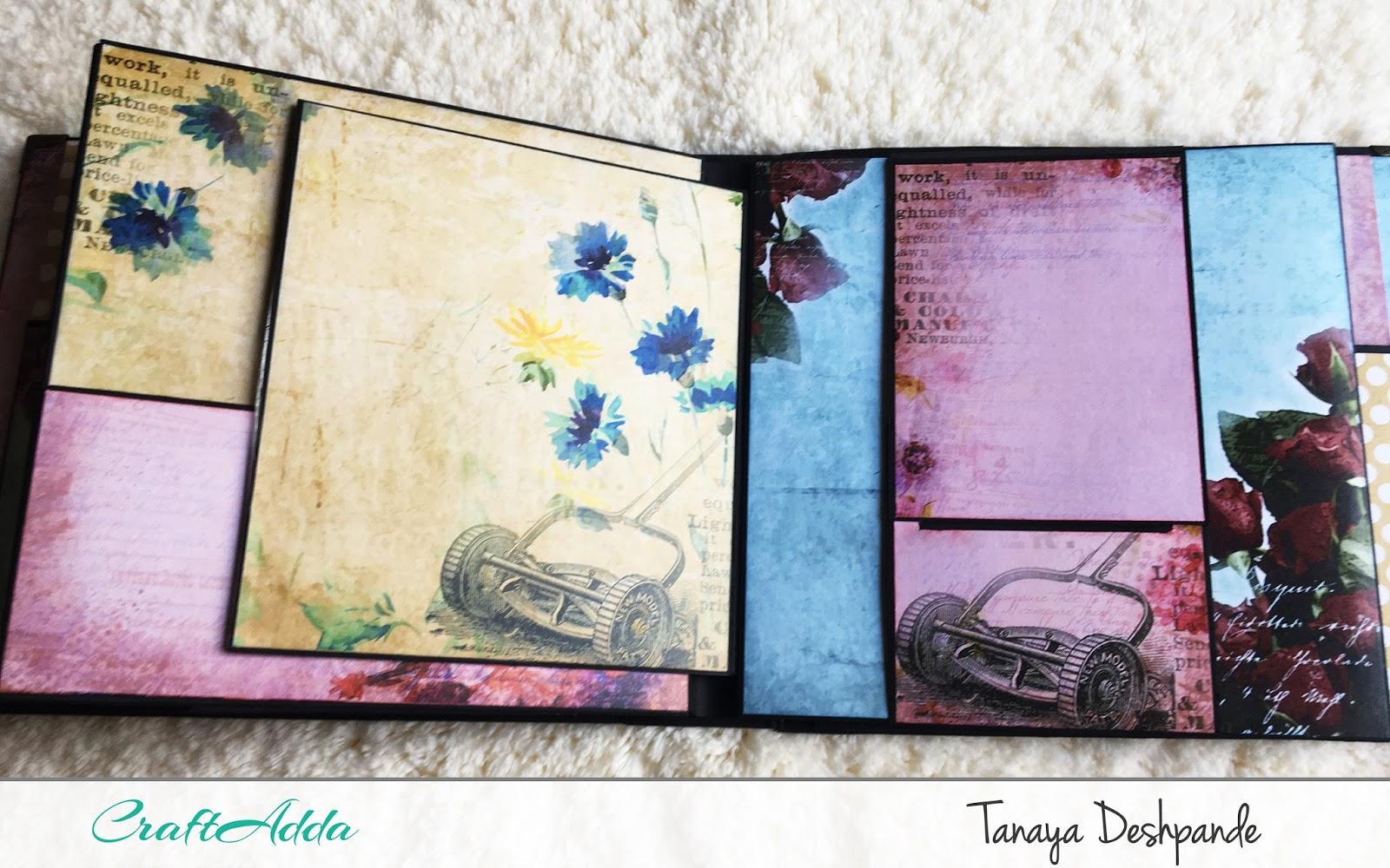 'Floral Elegance' 8*8 mini album by Craftowlz 2