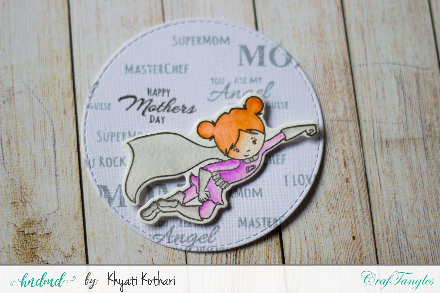Mothers day Inspiration using CrafTangles Products 3