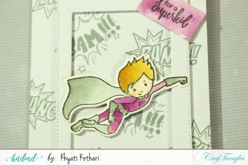 CrafTangles April Release (Coordinated Stamp and Die Set) - SuperKids 1