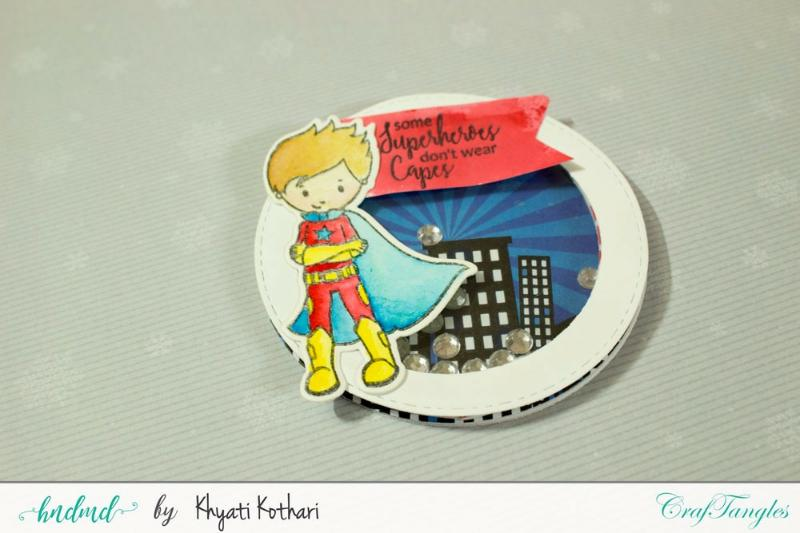 CrafTangles April Release (Coordinated Stamp and Die Set) - SuperKids 2