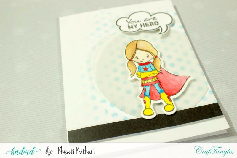 CrafTangles April Release (Coordinated Stamp and Die Set) - SuperKids 4