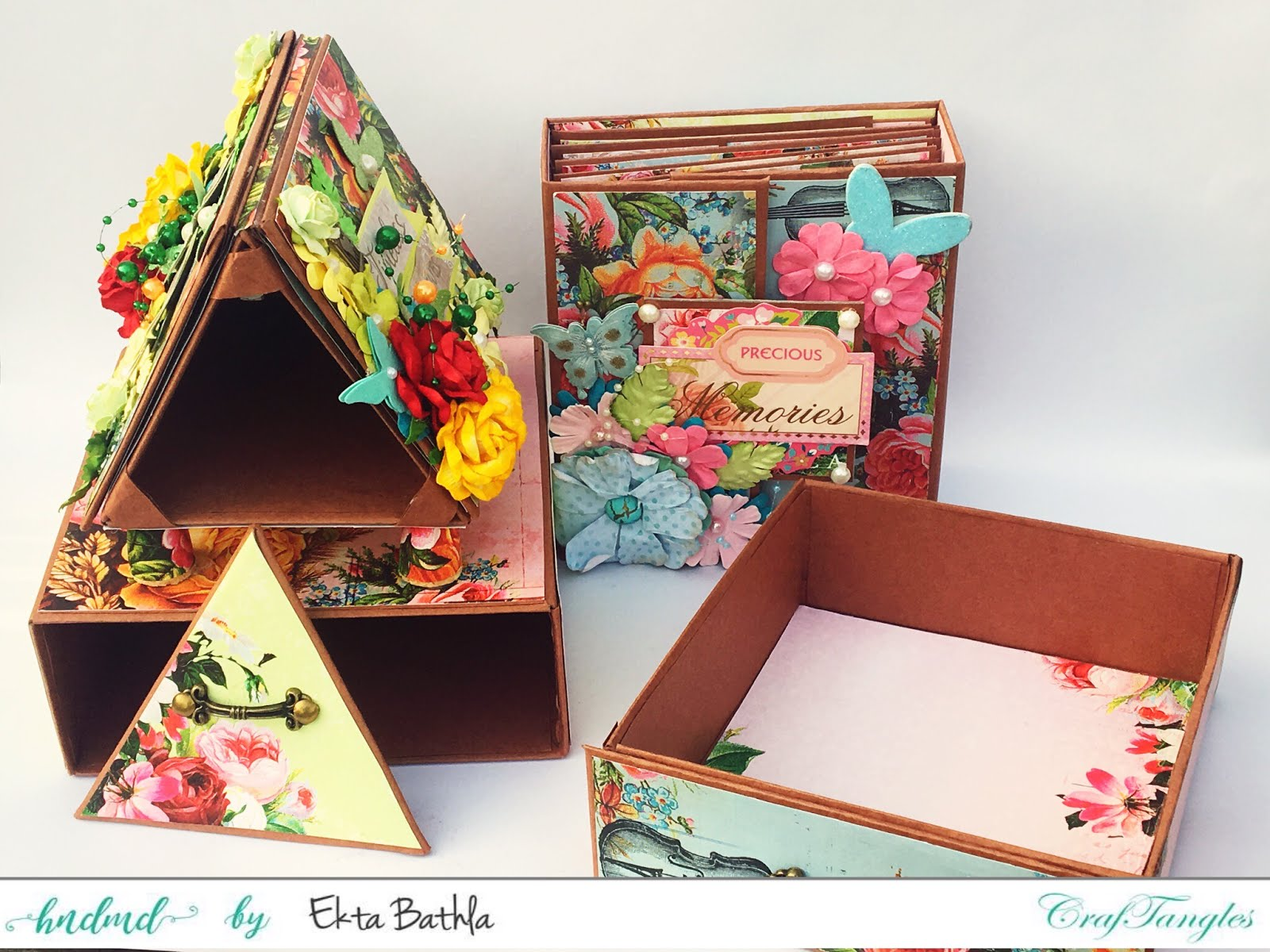 Photo house box with a drawer and an album 4