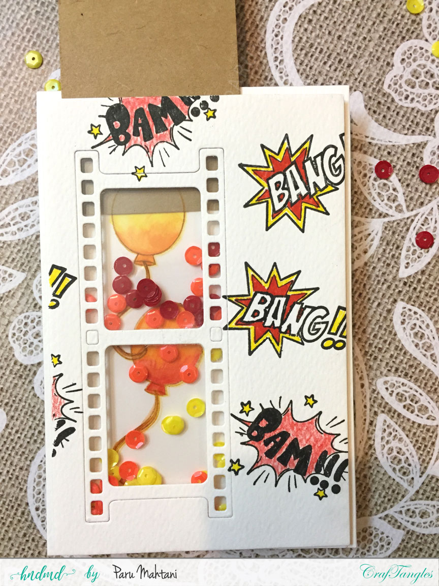 Interactive cards showcasing the Craftangles Superkids stamps and co-ordinating dies 12