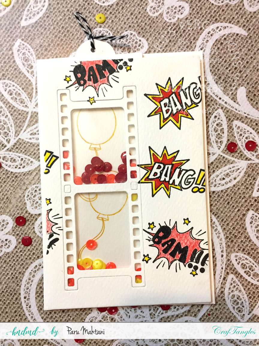 Interactive cards showcasing the Craftangles Superkids stamps and co-ordinating dies 6