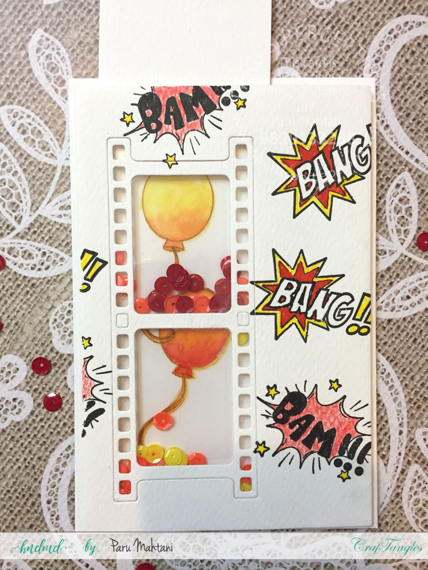 Interactive cards showcasing the Craftangles Superkids stamps and co-ordinating dies 9