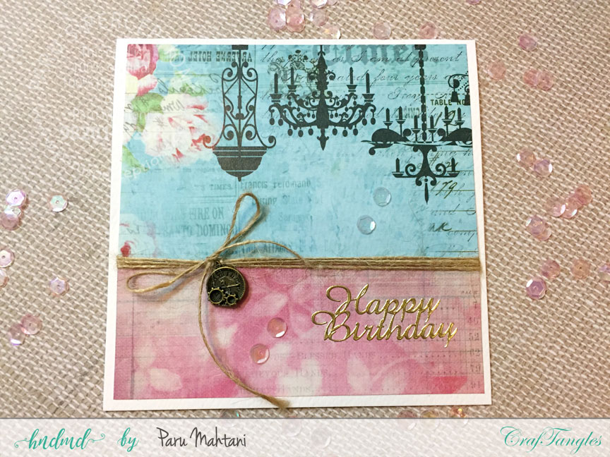 Birthday cards with Craftangles Enchanted Blooms paper 2