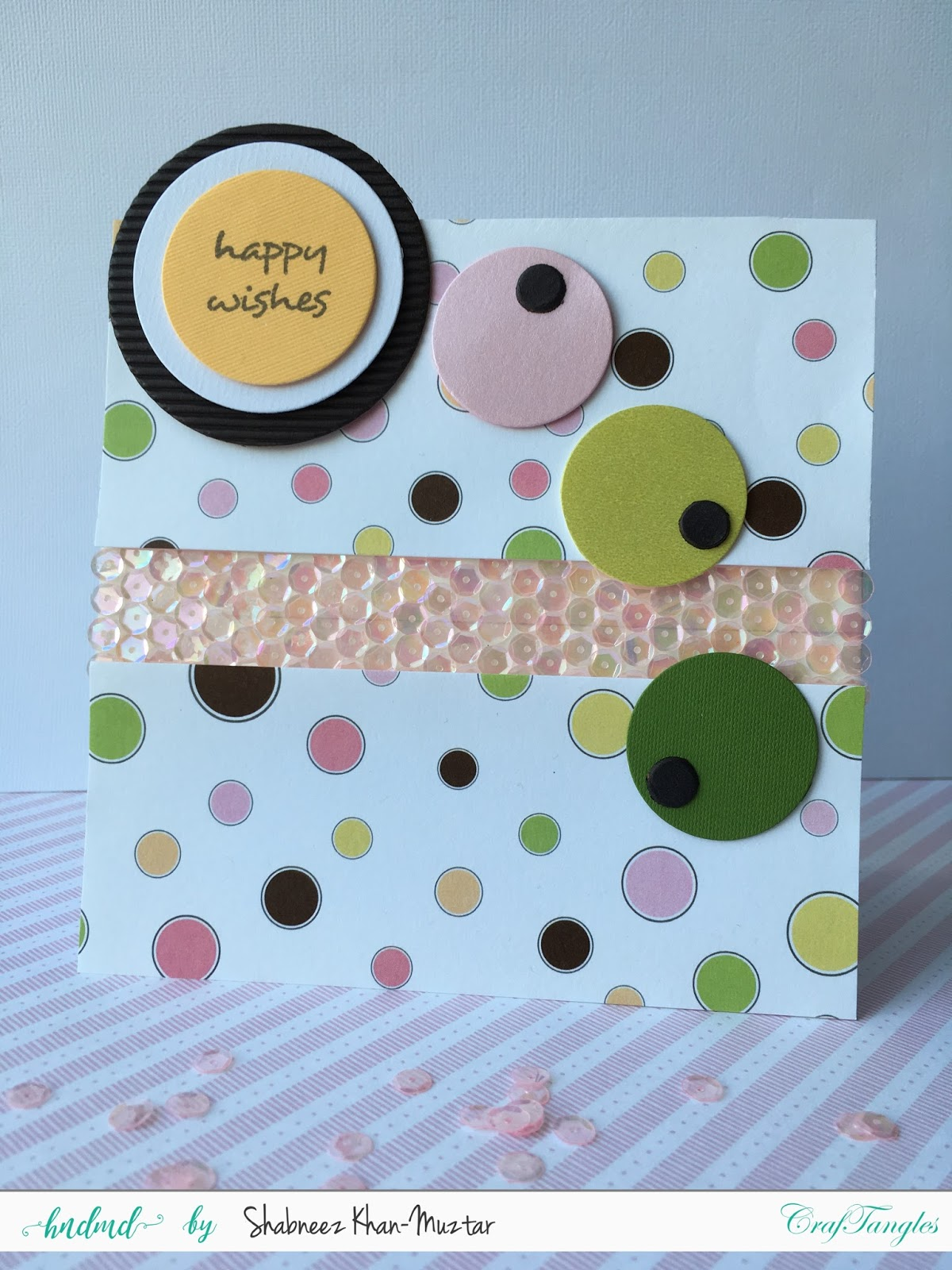 Using CrafTangles Sequins on Cards 3
