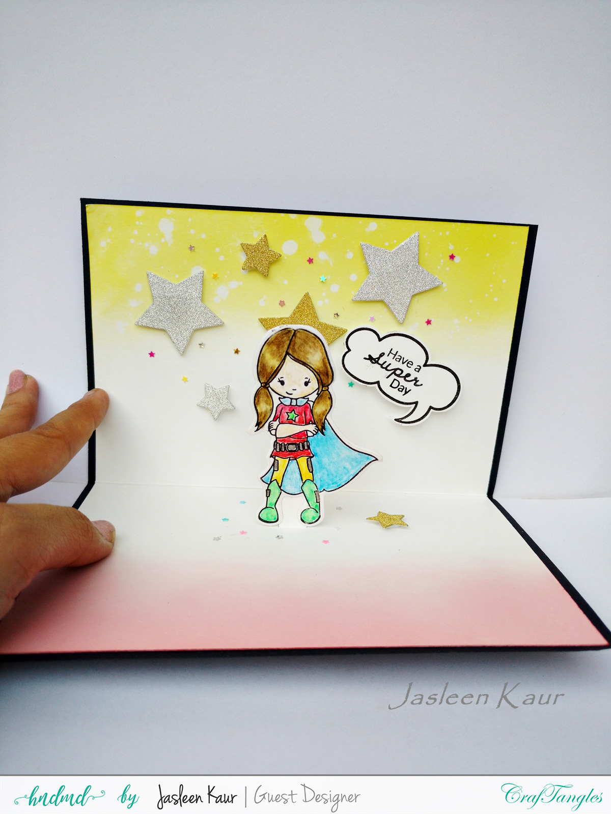 SuperGirl CAS and Popup cards by Jasleen [Guest Post] 4
