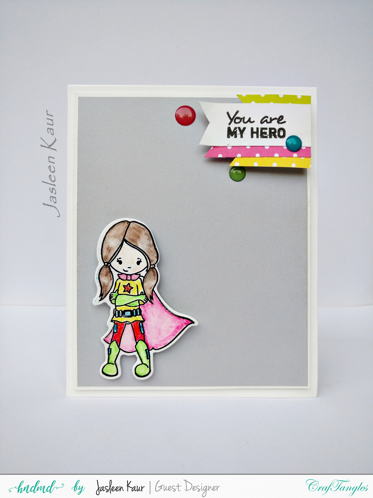 SuperGirl CAS and Popup cards by Jasleen [Guest Post] 1