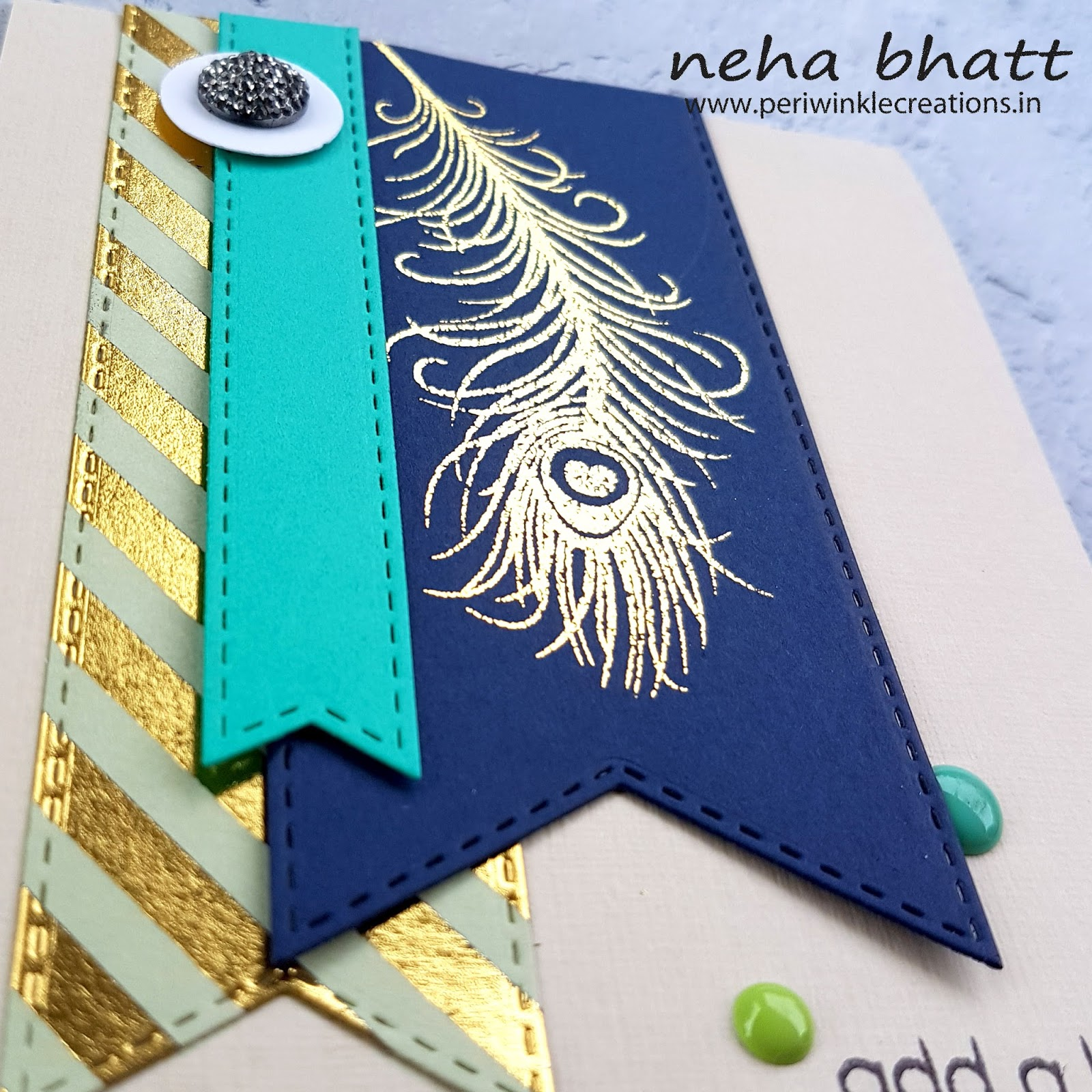 The magic with CrafTangles foils continue by Neha Bhatt 8