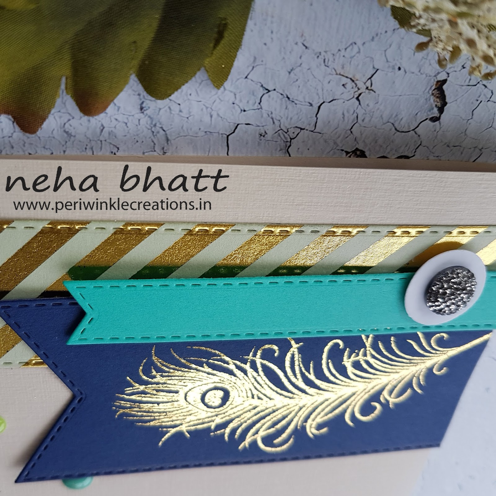 The magic with CrafTangles foils continue by Neha Bhatt 10