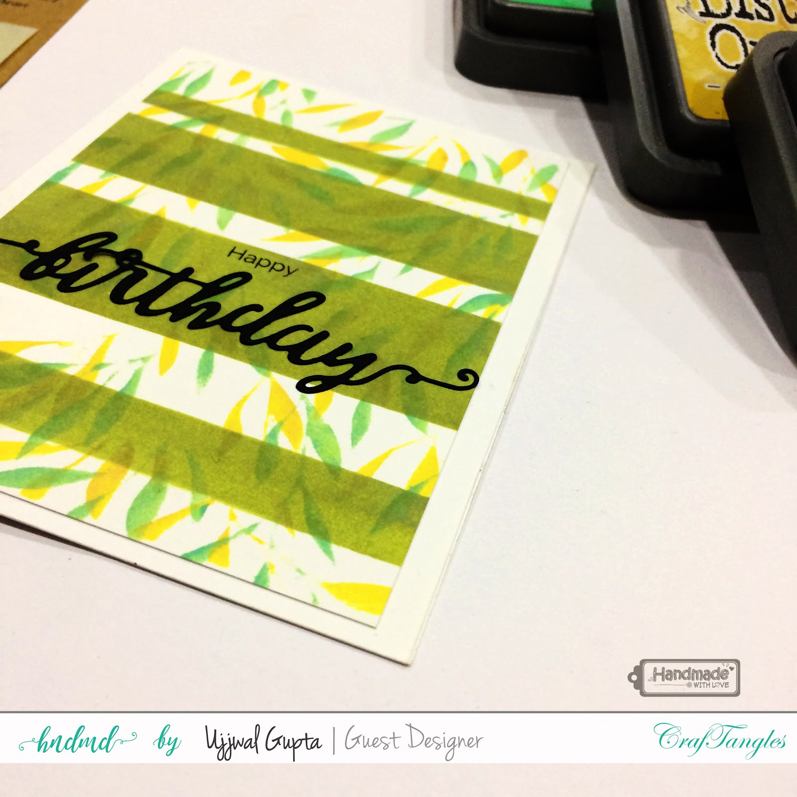 5 Cards using CrafTangles stamps and stencils 4