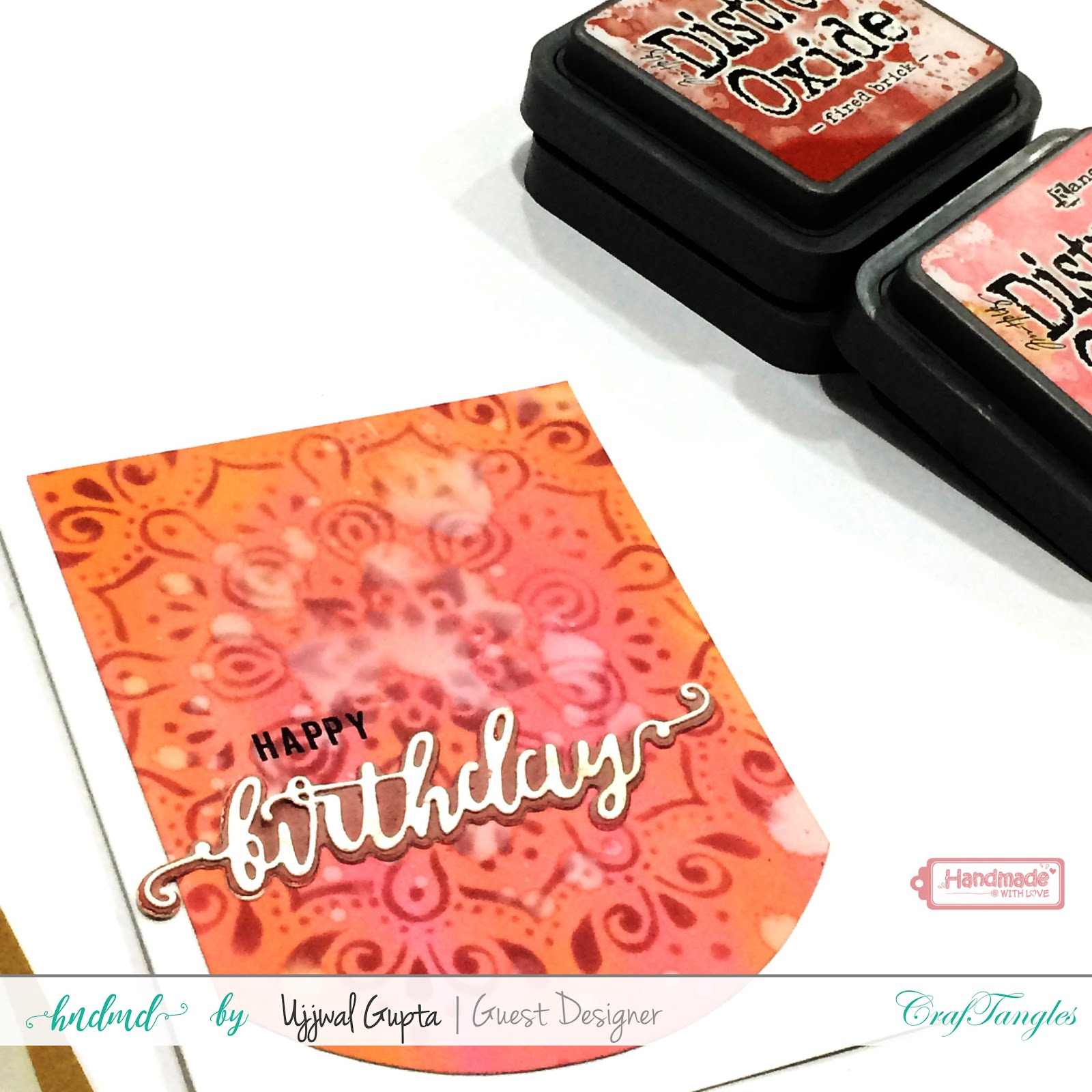 5 Cards using CrafTangles stamps and stencils 8