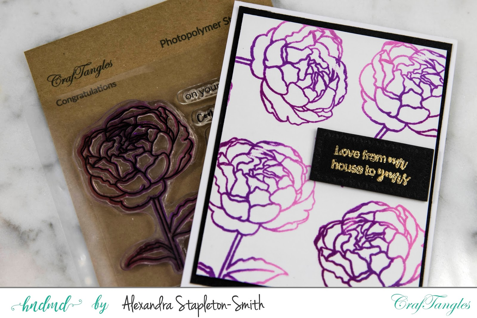 Ombre Peonies in Shades of Purple 1