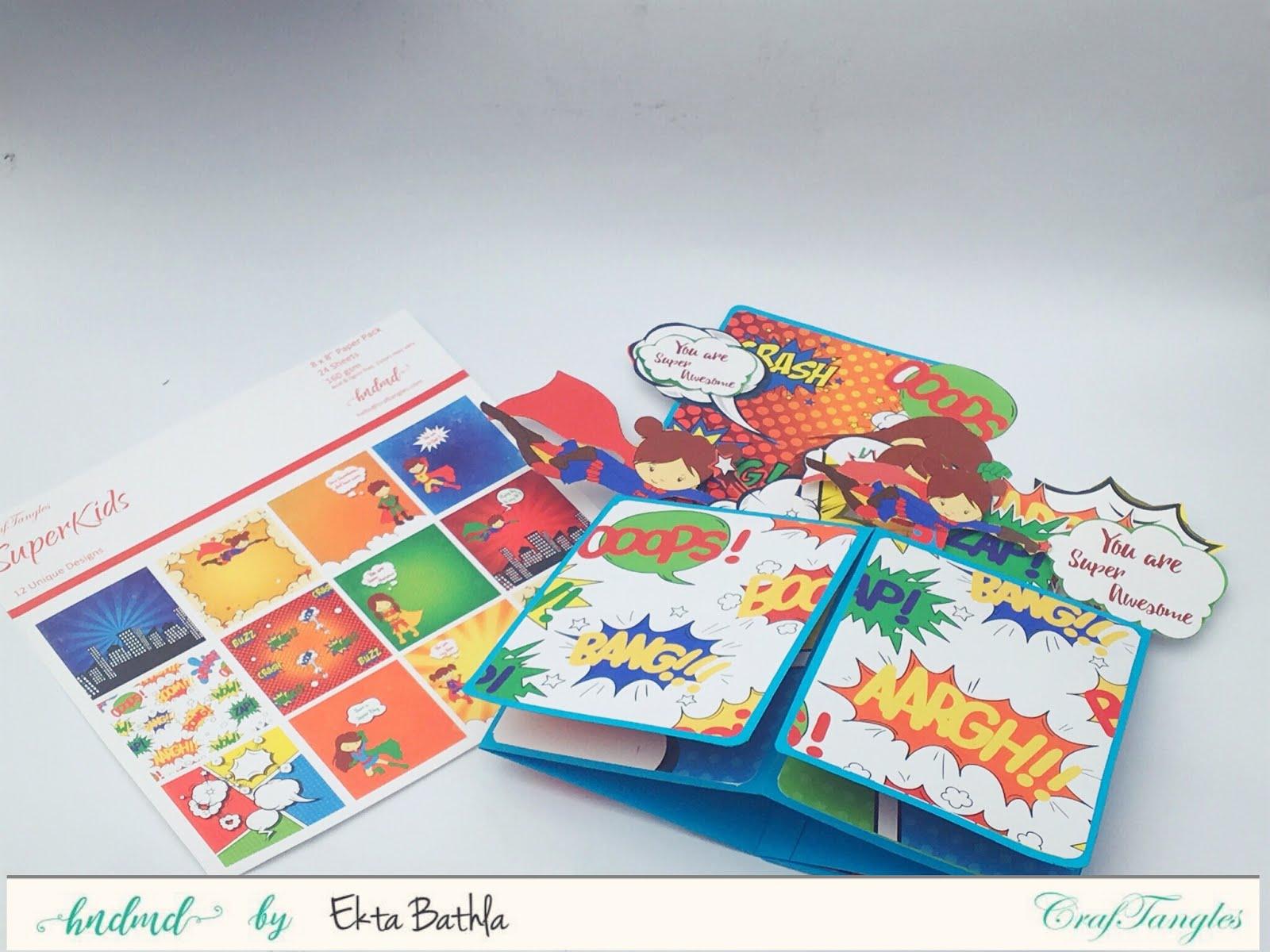 Super Girl Pop Up Card Box 3
