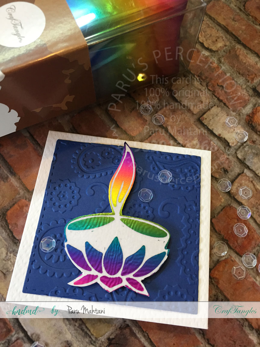 Diwali cards with foil. 5