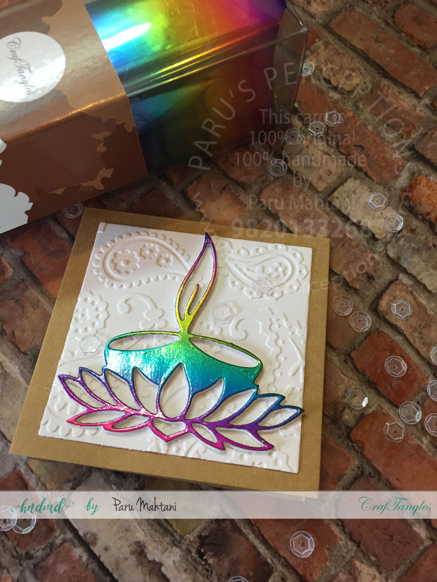 Diwali cards with foil. 4
