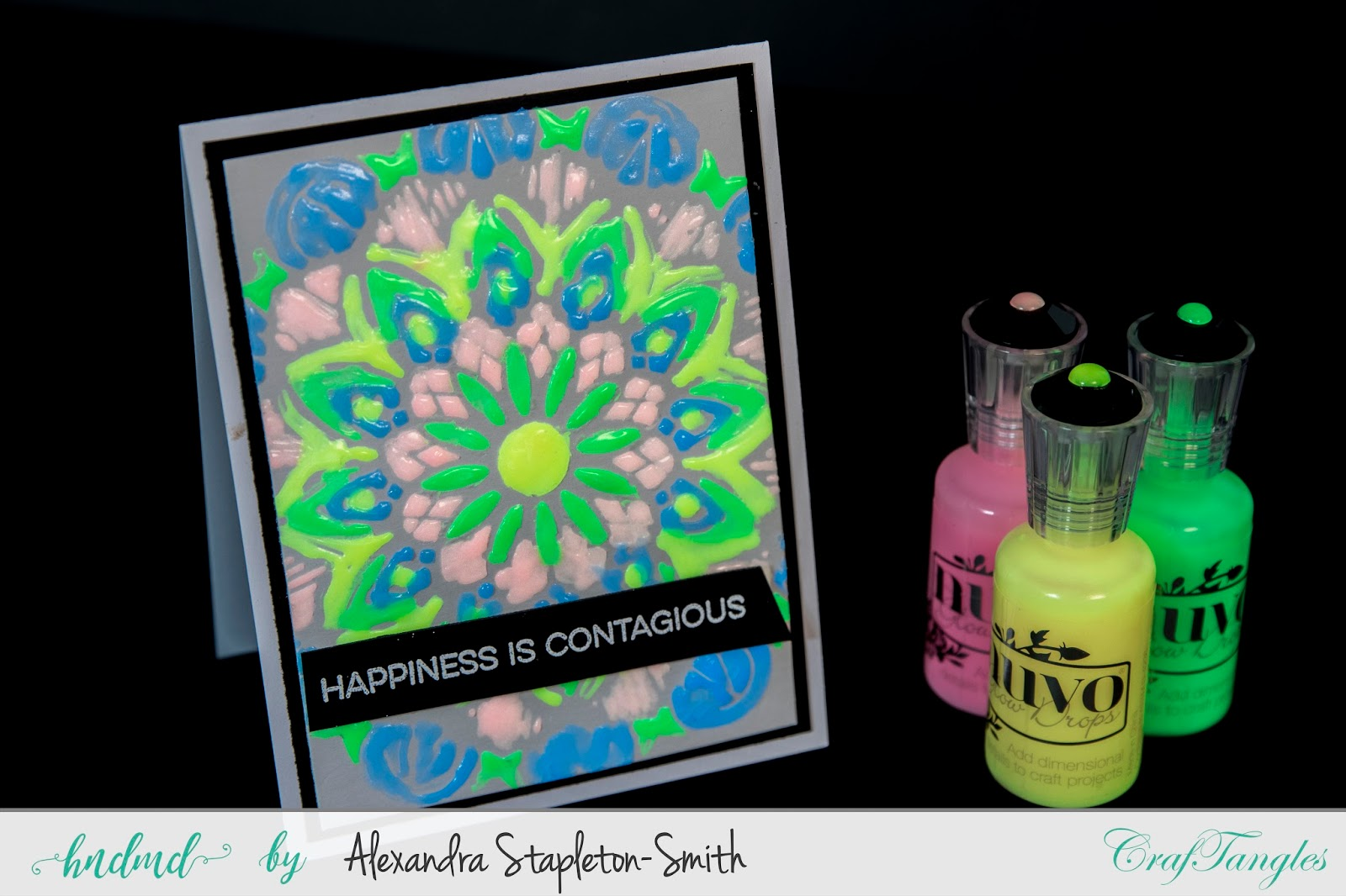Two more ways with the Lace stencils including Watercolor and Glow in the Dark! 4