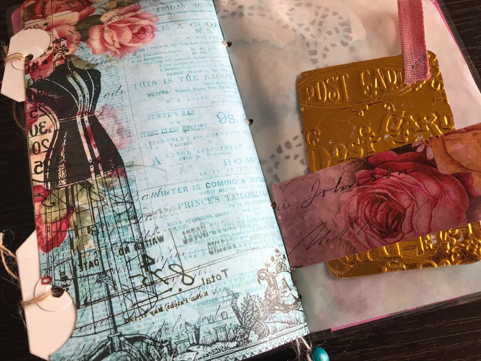 DIY Traveler's notebook signature mini album 1
