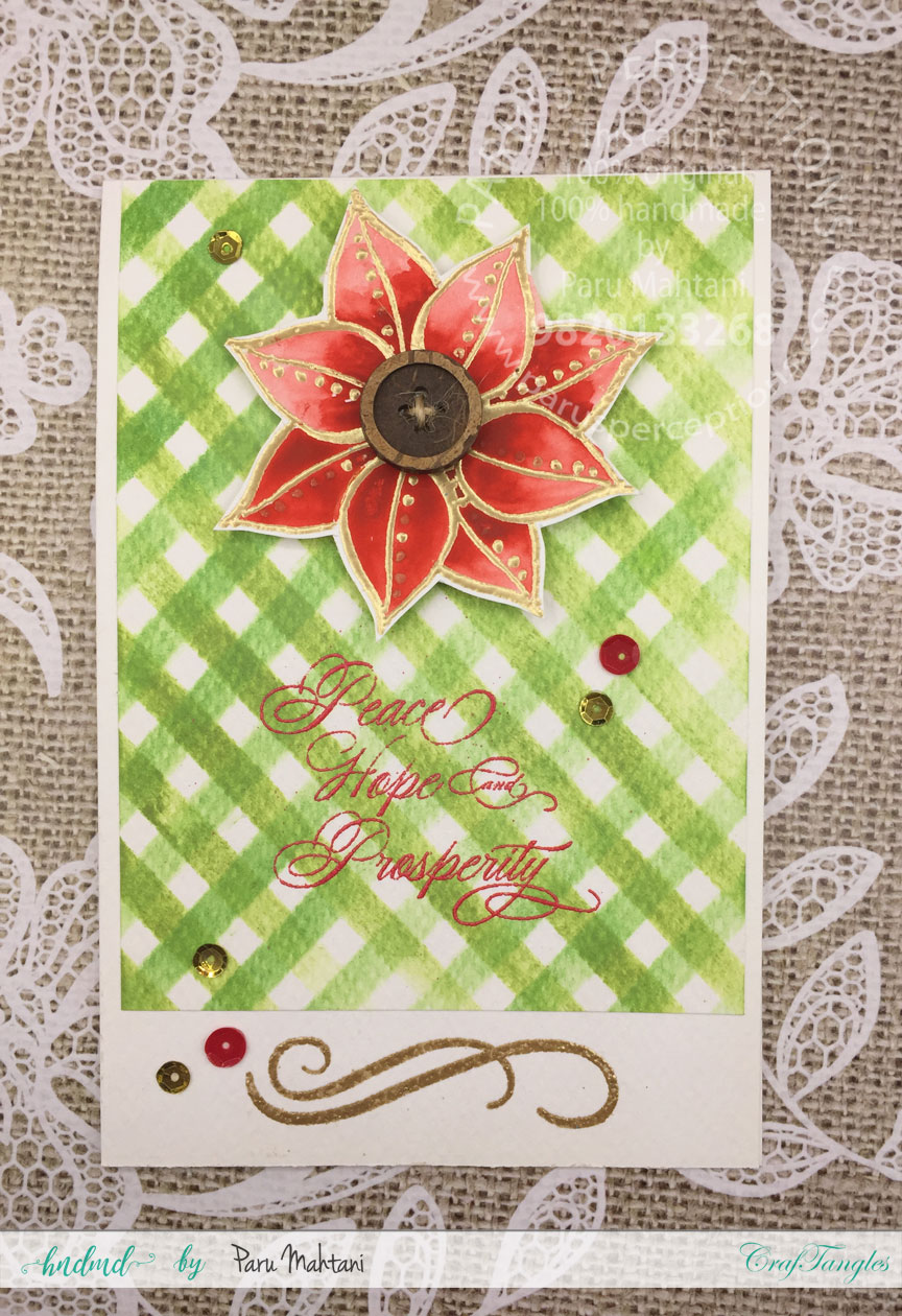 Making Christmas cards with Craftangles stencils 2