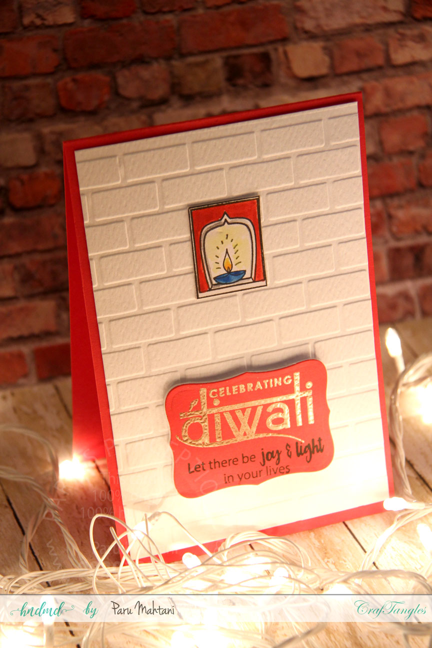 Playing with Craftangles Diwali stamps and stencils 3