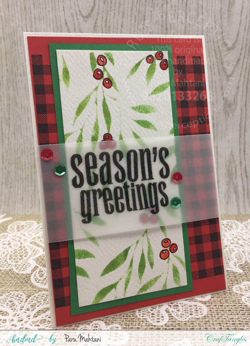 Making Christmas cards with Craftangles stencils 3