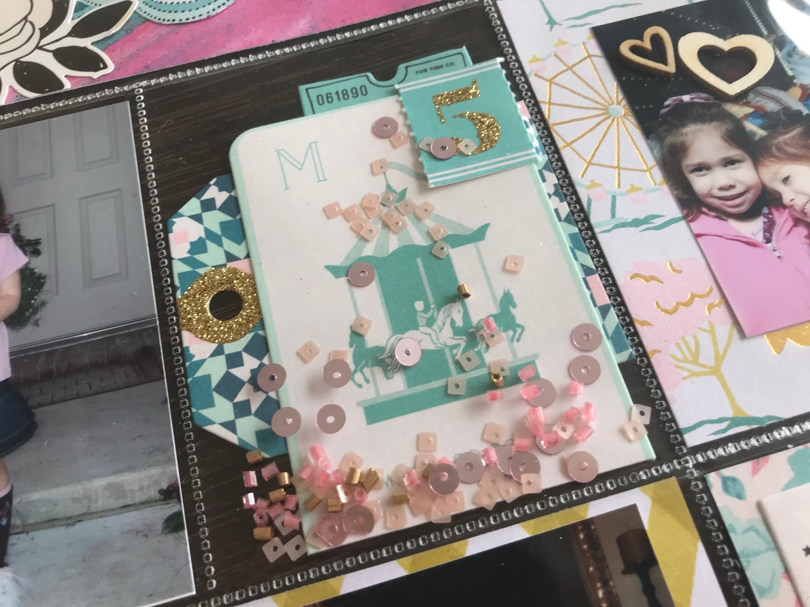 Craftangle Beads and Sequins with Maggie Holmes Carousel Collection 1