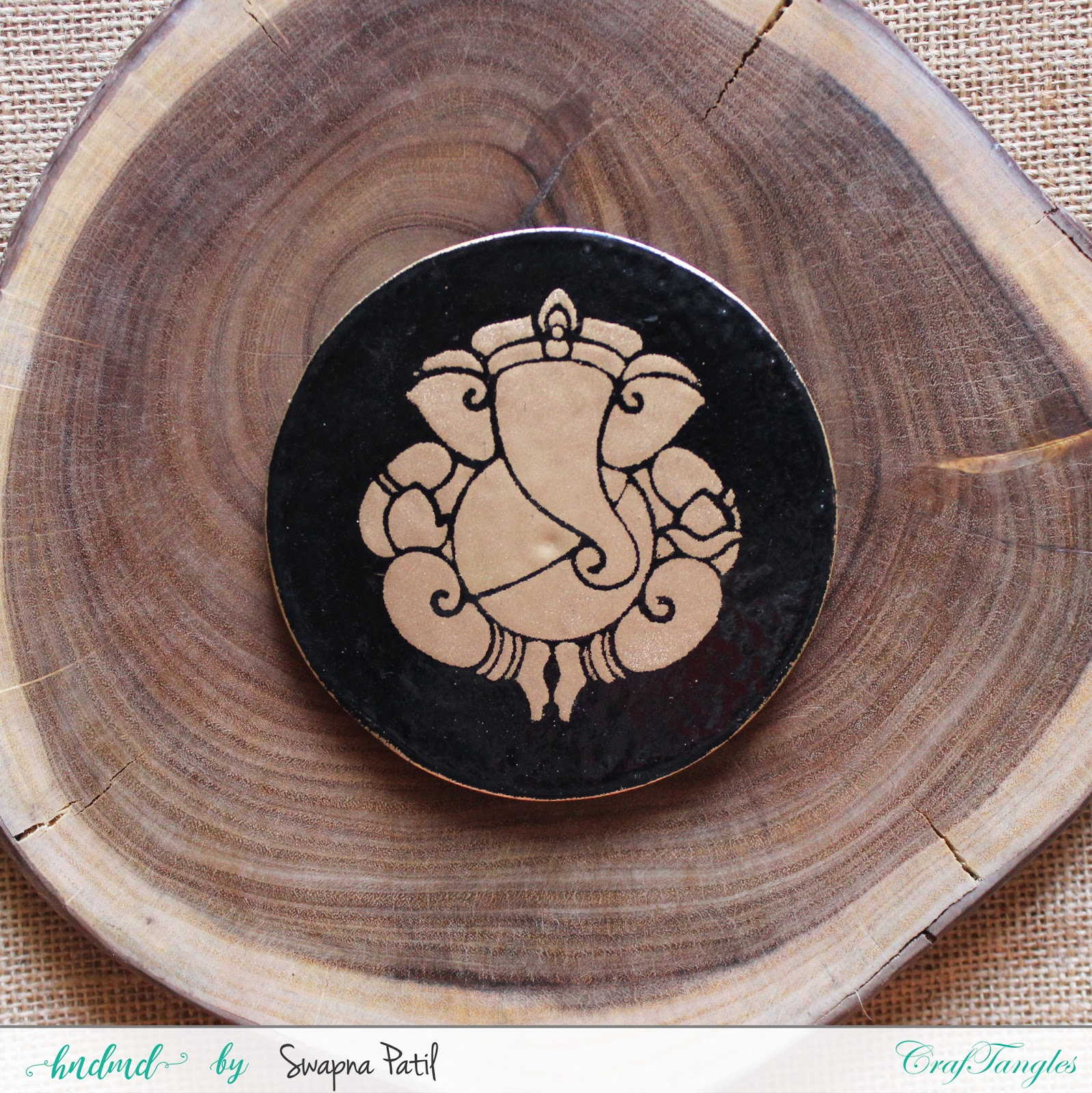 Fridge magnets from tea coasters 1