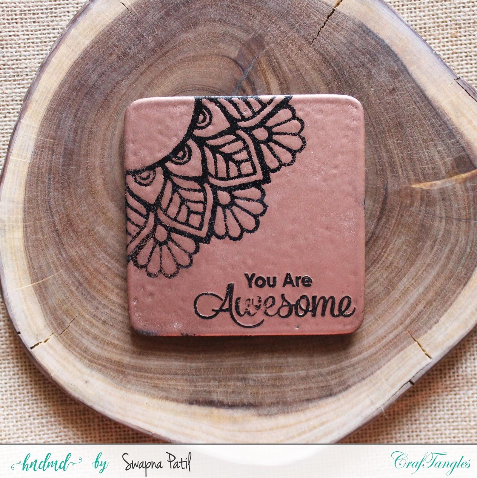 Fridge magnets from tea coasters 7