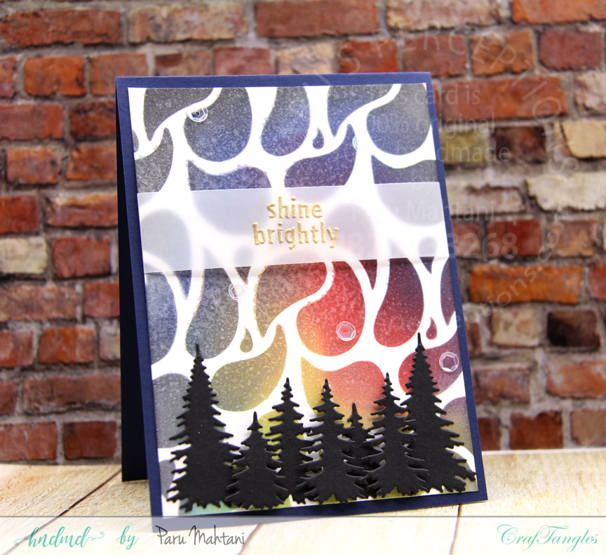 Making Christmas cards with Craftangles Stencils 4