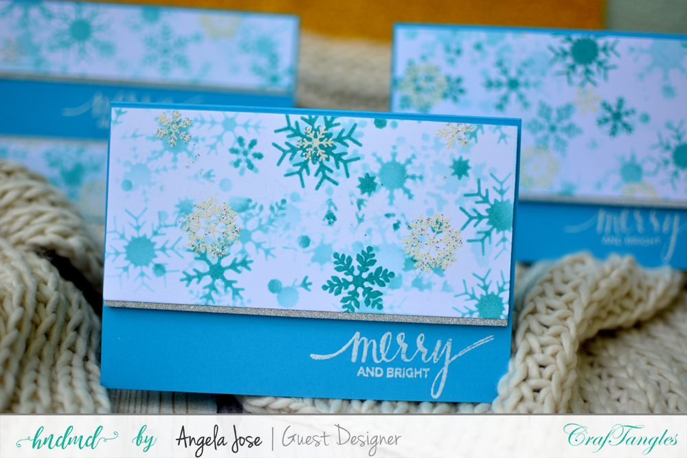 Cards using CrafTangles Christmas Release by Angela Jose 6