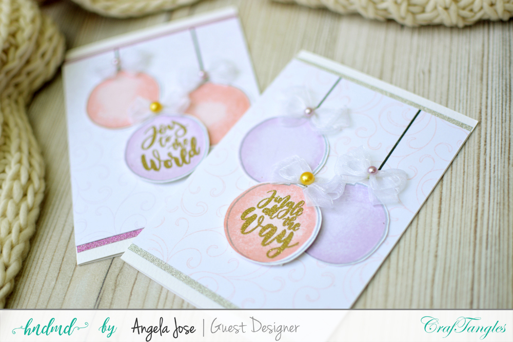 Cards using CrafTangles Christmas Release by Angela Jose 3