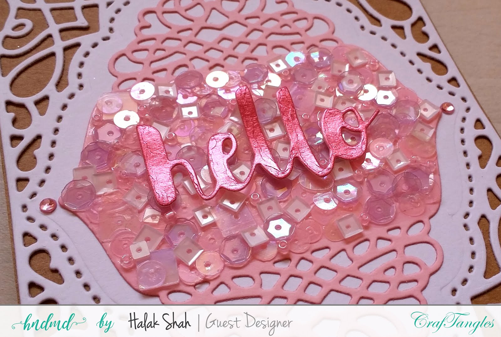 Different ways to create cards using CrafTangles Products 10