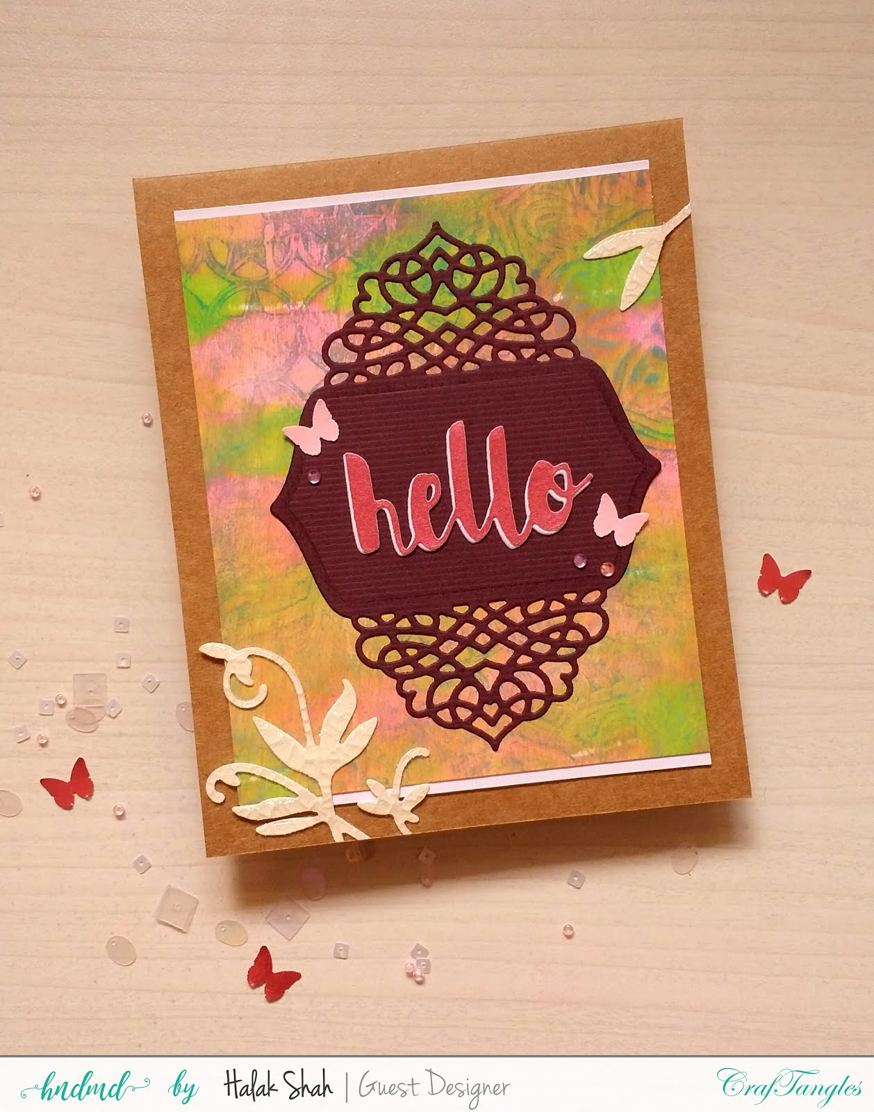 Different ways to create cards using CrafTangles Products 11