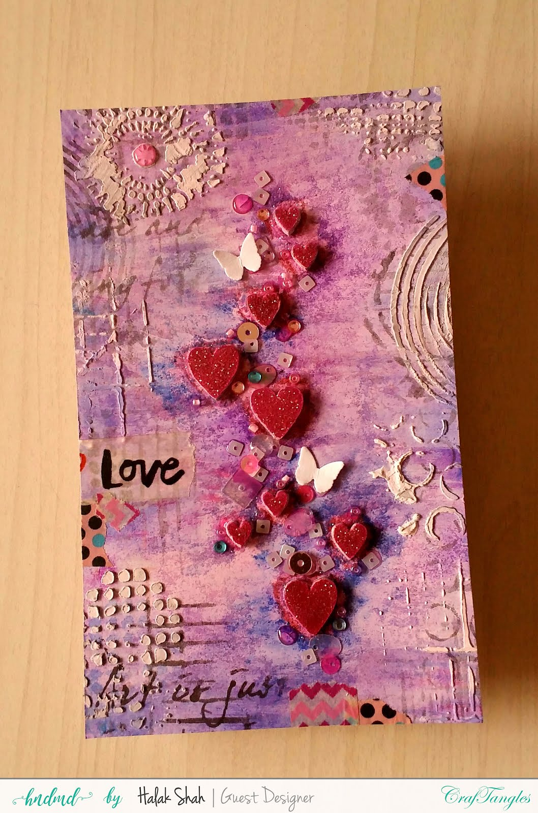 Different ways to create cards using CrafTangles Products 4