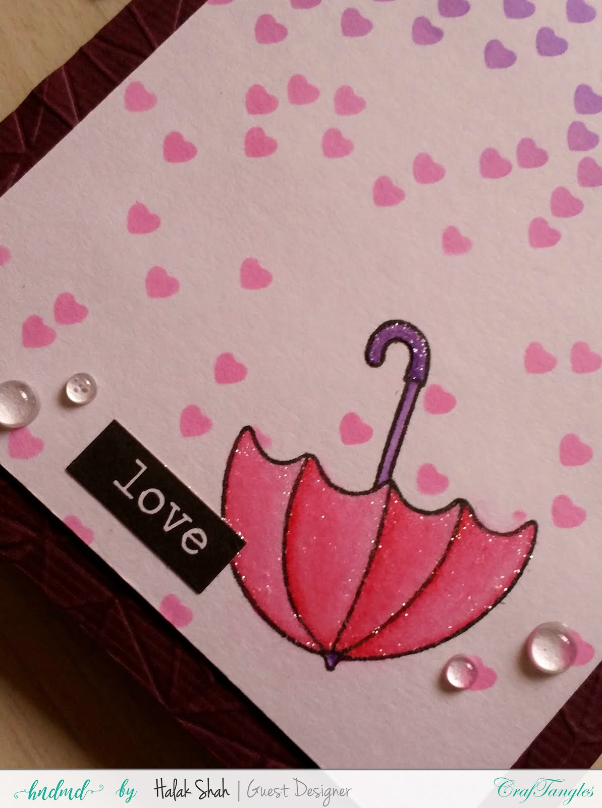 Different ways to create cards using CrafTangles Products 7