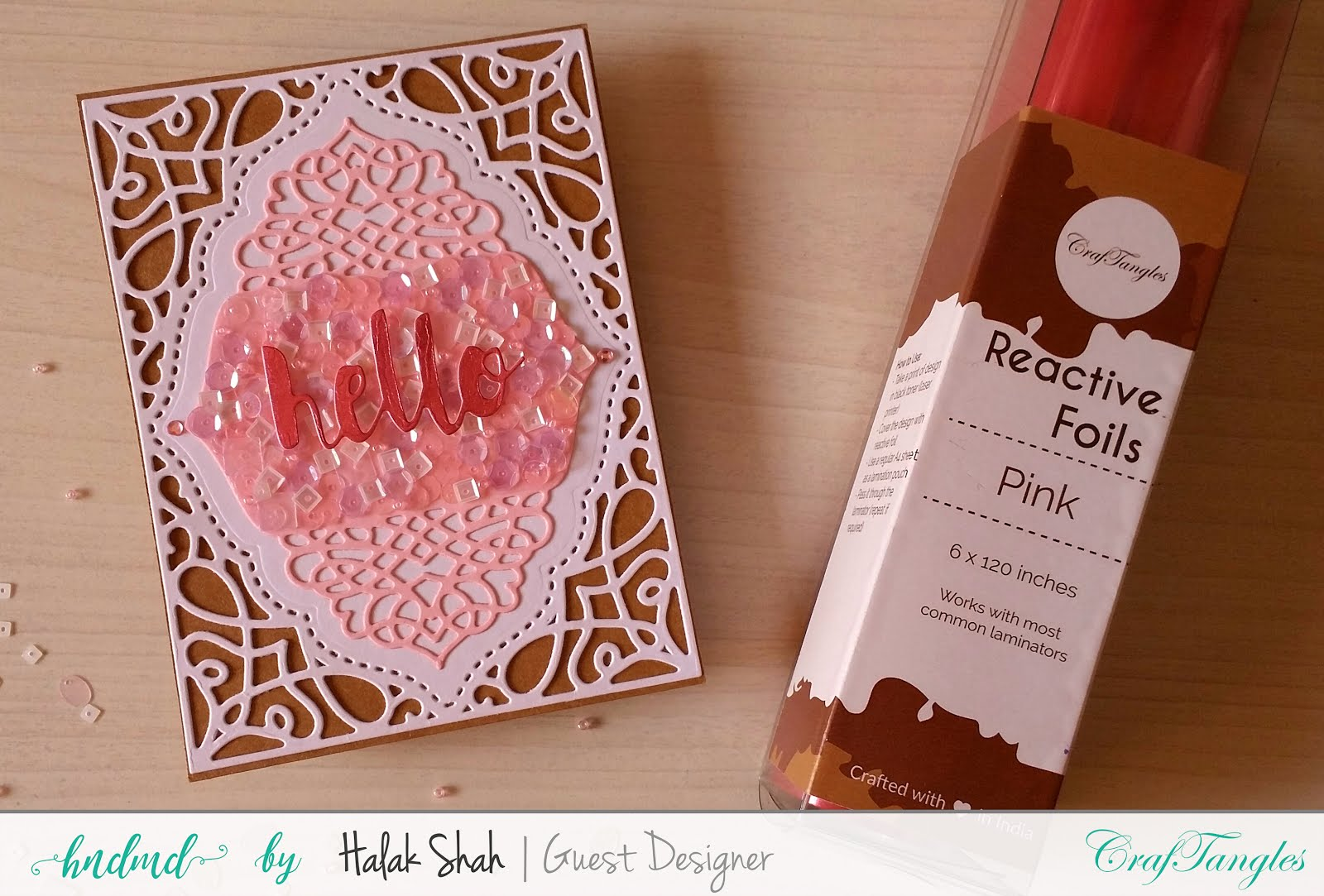 Different ways to create cards using CrafTangles Products 8