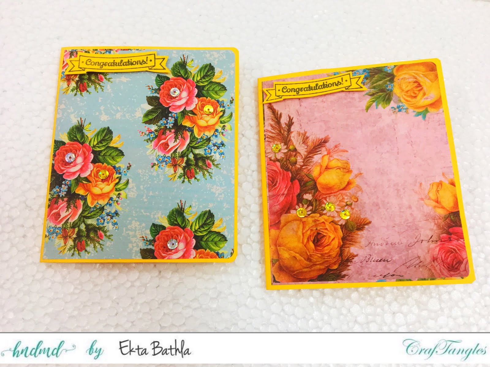 Some quick cards using patterned papers by CrafTangles 12