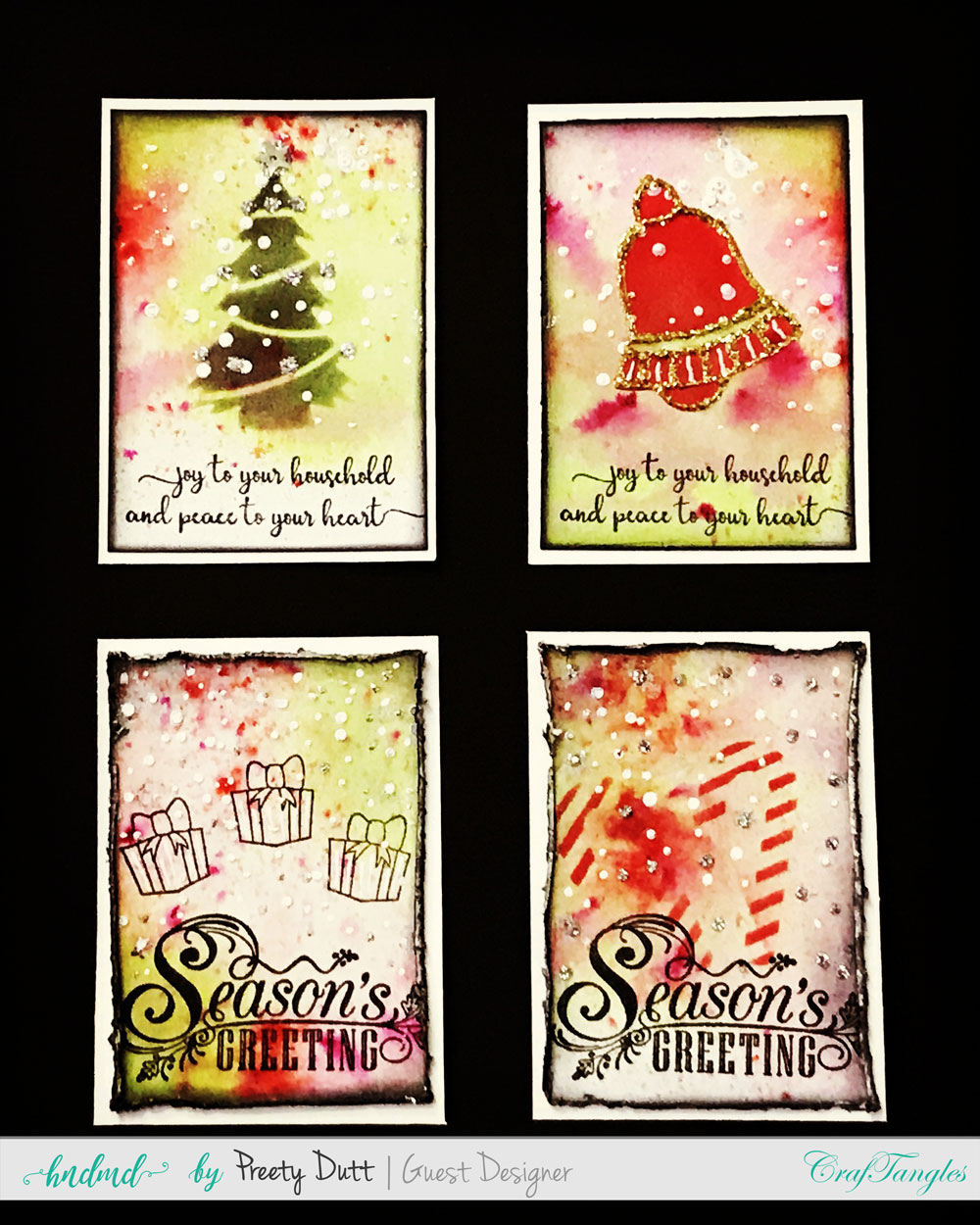 Christmas cards and ATCs by Preety Dutt 13
