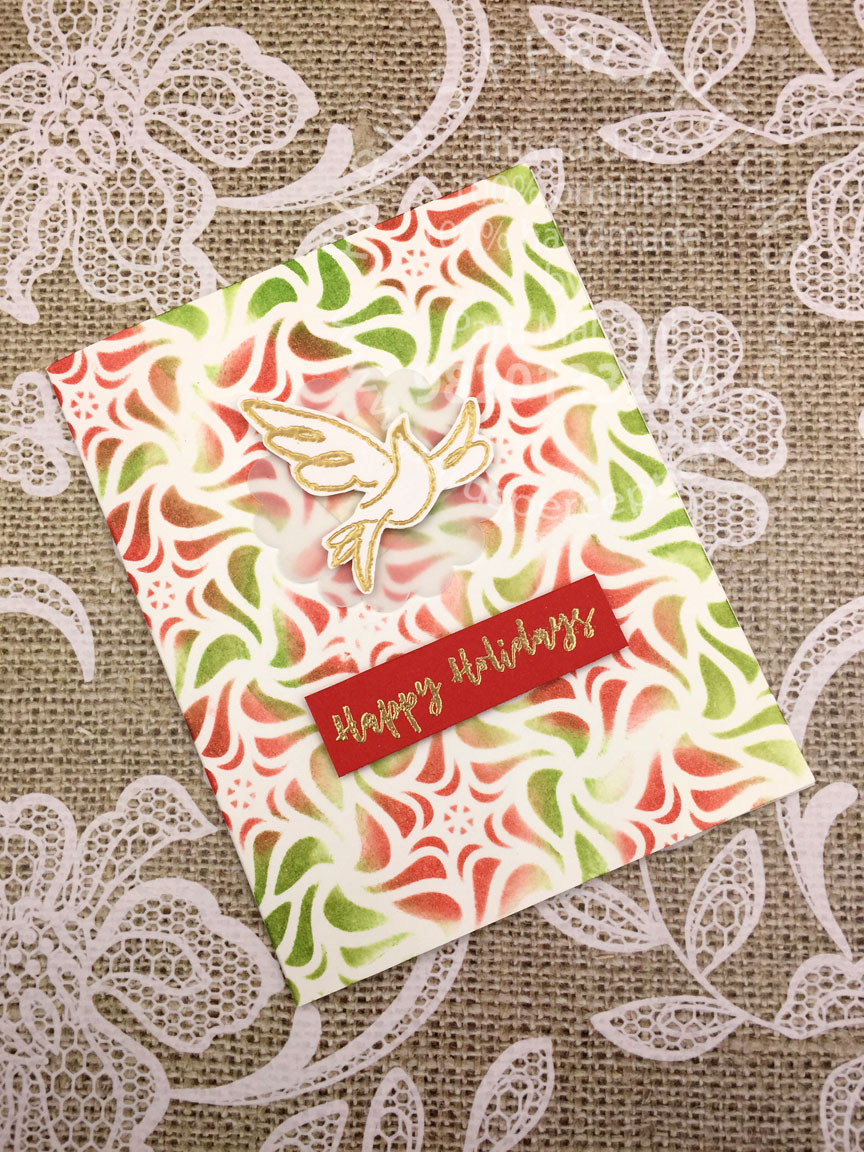 Christmas stamps from Craftangles! 1