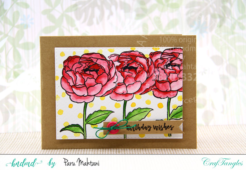 Floral birthday cards 1