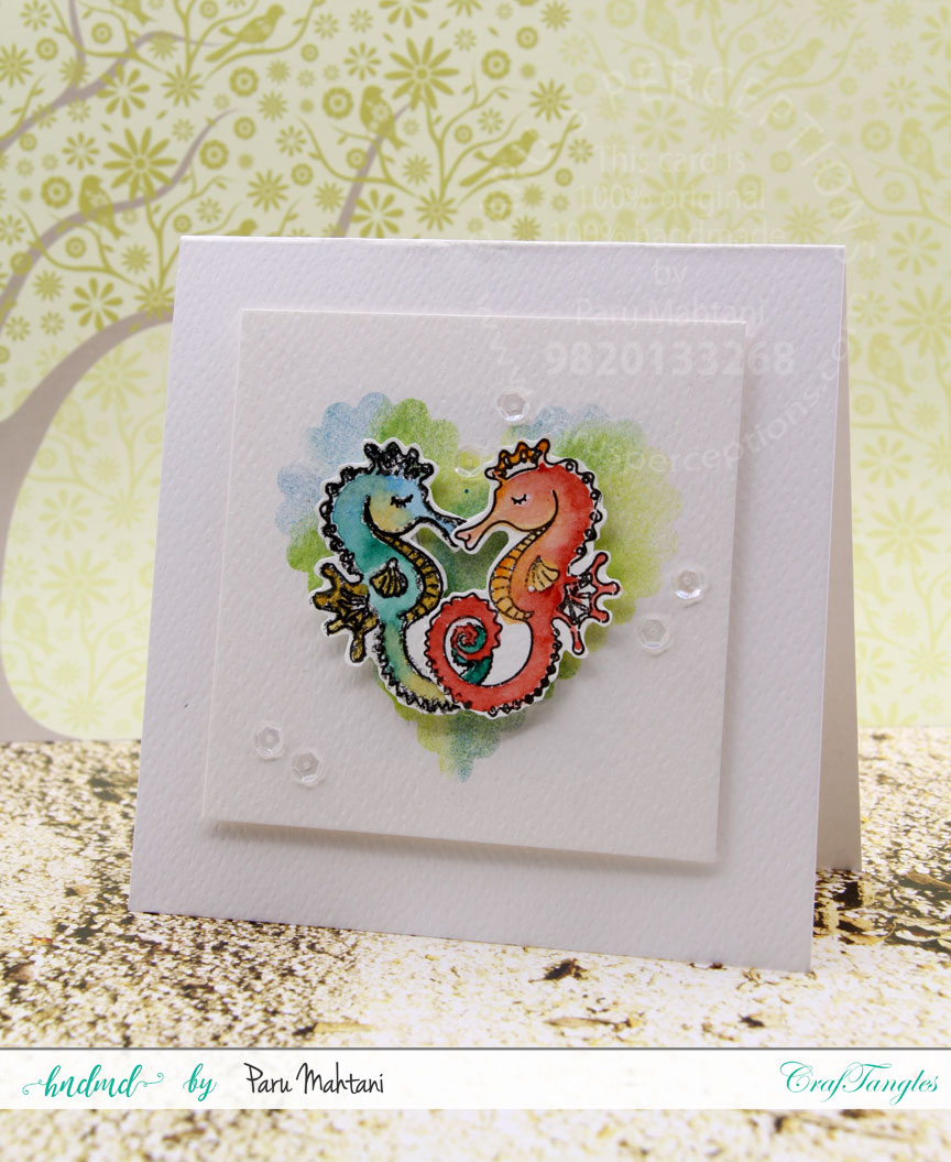 Mixing up Craftangles stamp sets. 4