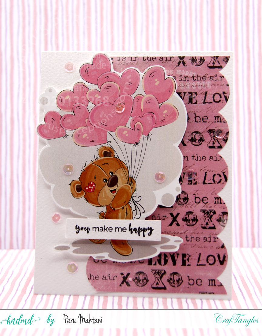 Valentine fun with new paper packs and element sheets. 6