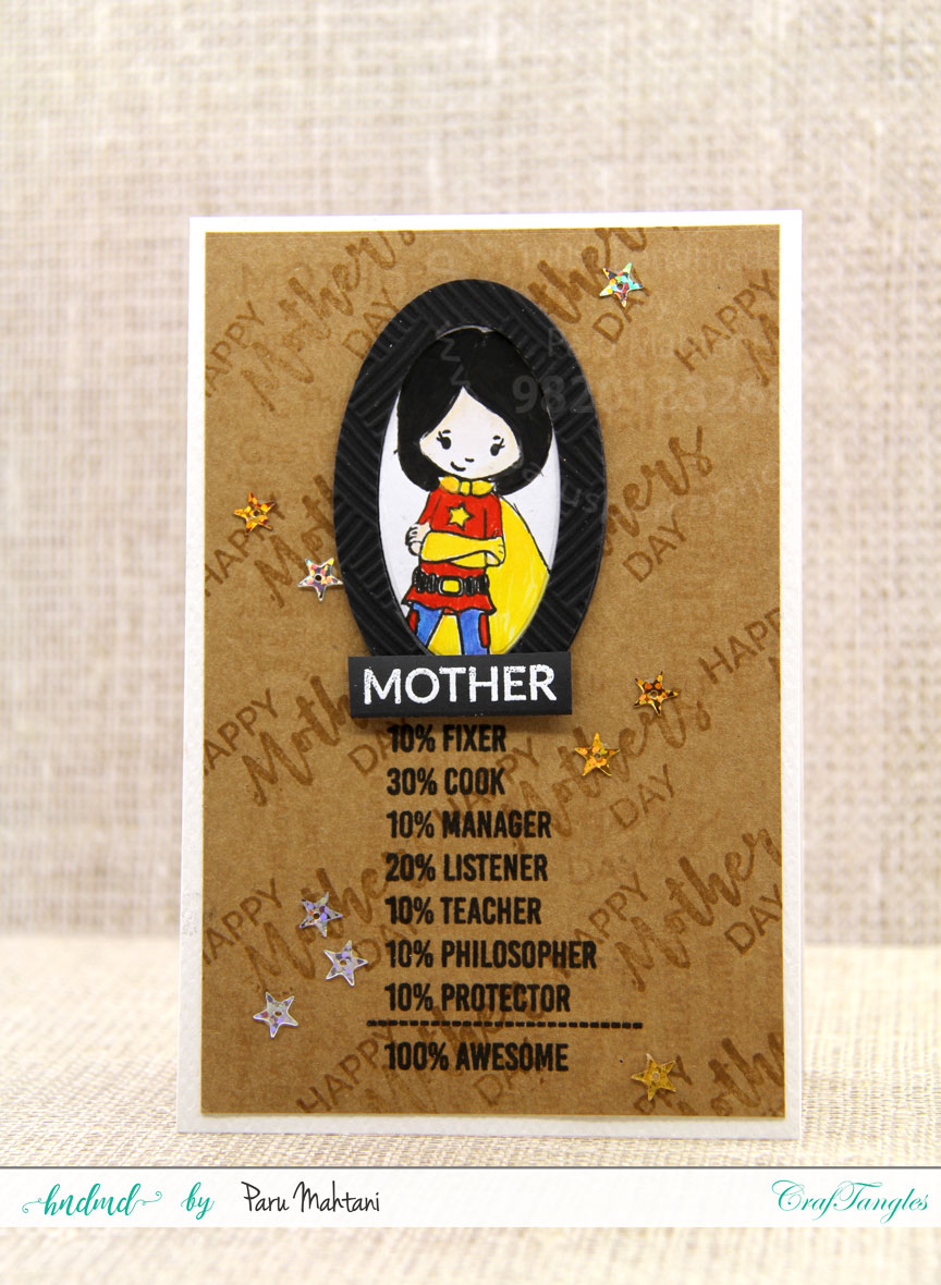 Mother's Day cards using Kraft card and distress inks 4
