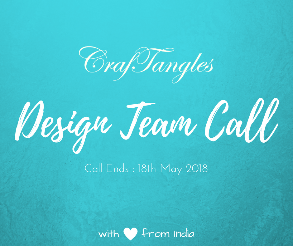We are having a Design Team Call for 2018 !!! 1