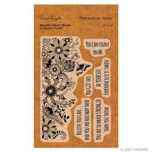 CrafTangles Photopolymer Stamps - Beautiful Bloom Border